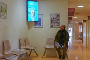 Ecran d'information en salle d'attente