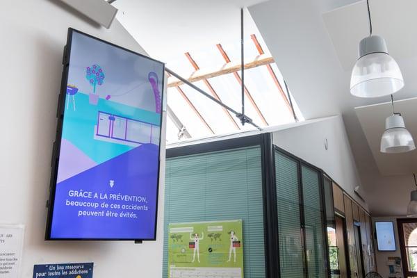 Ecran d'affichage dynamique en cabinet médical